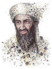 Osama Bin Laden as spawn for Shortlist magazine.
