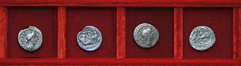 RRC 480-01,2 L.BVCA M.METTIVS DICT QVART Aemila, Mettia, Julius Caesar, Ahala collection Roman Republic