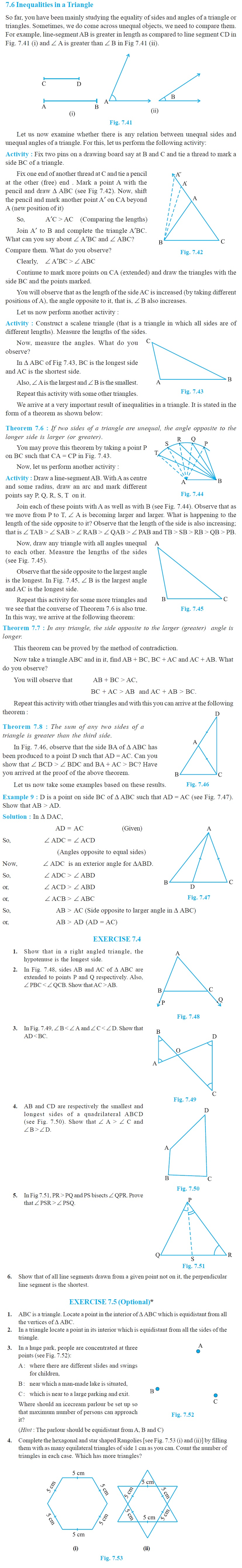 NCERT Class IX Maths Chapter 7 Triangles