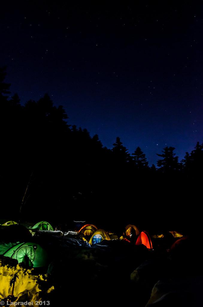 20121231 星明かりとテントの灯り