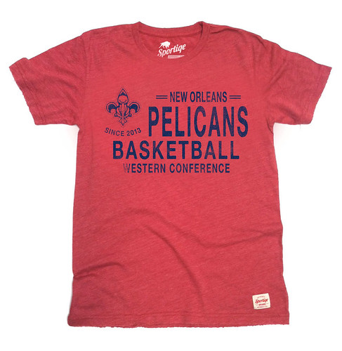 RED NEW ORLEANS PELICANS SHIRT BY SPORTIQE APPAREL