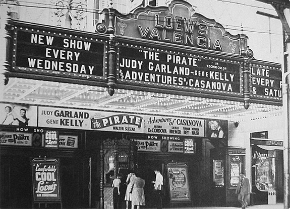 Hollywood movie theater garland