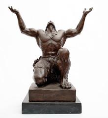 art, classical sculpture, sculpture, metal, bronze sculpture, statue,