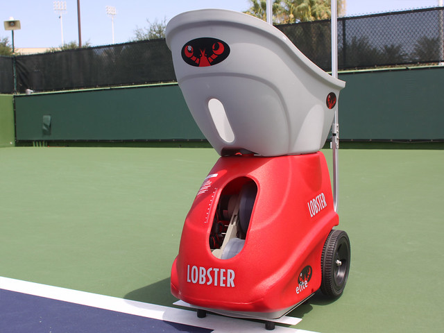 used lobster tennis machine