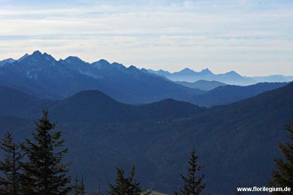 Der Blick nach Westen Richtung Allgäuer Alpen
