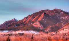 Sunrise on the Flatirons