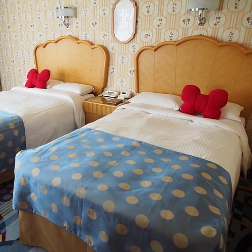 こちらはミニーマウスルーム。3つの中では一番落ち着いています。