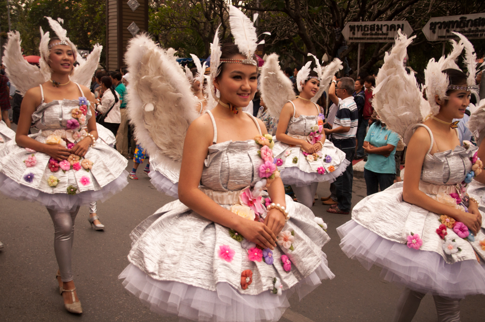 Parading Angels, Chiang Mai Flower Festival 2013