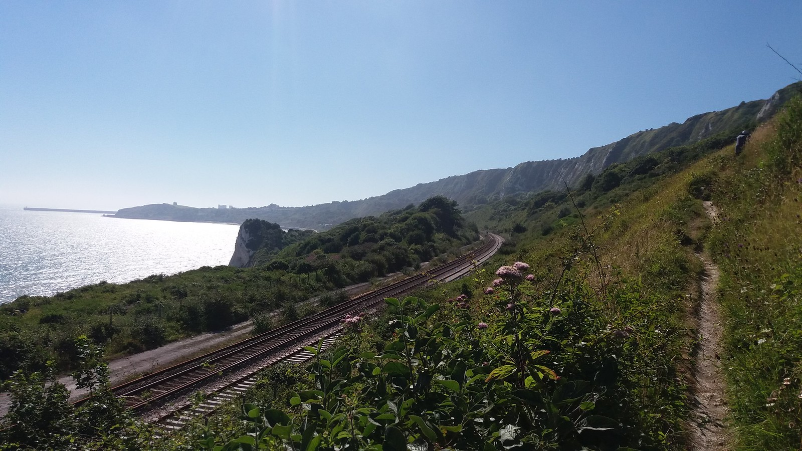 20160812_153305 Folkestone Warren - Rail Line from path up to Cliff Top cafe