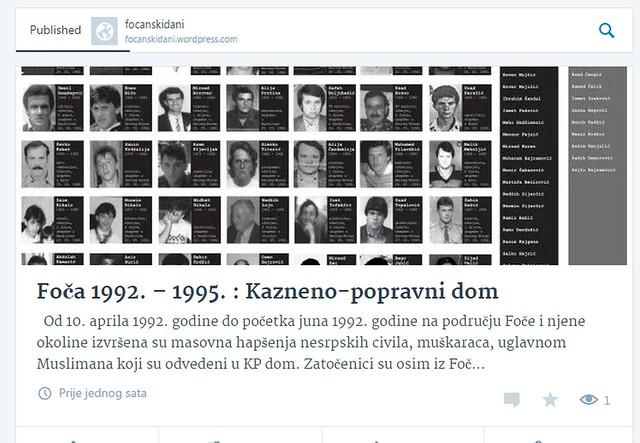 Foča 1992. - 1995. : Kazneno-popravni dom