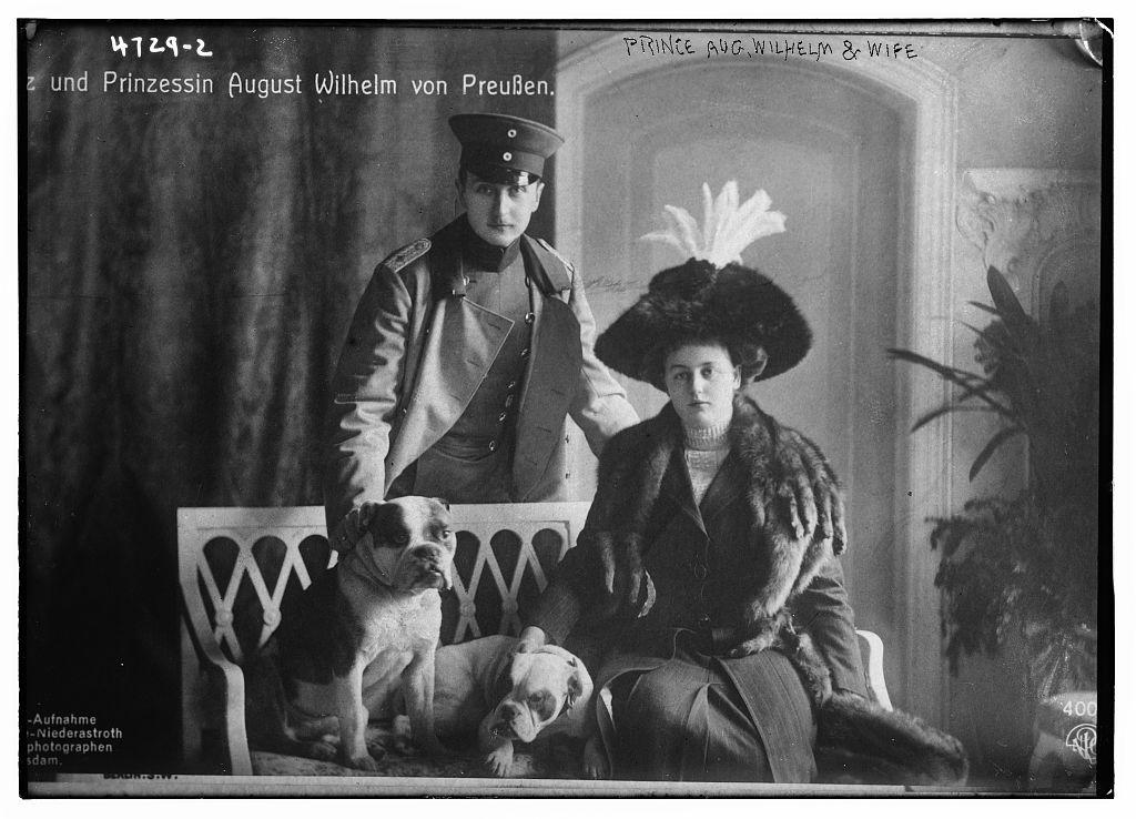 Prince Aug. Wilhelm & wife (LOC)