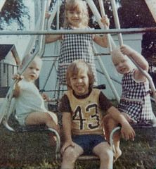 Me with my brother and two cousins