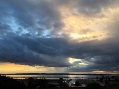 After the rain. Isn't that a Sting song? #Everett #sunset #clouds #snocotourism #gold #blue #seagulls #ehs #whidbeyisland #portofeverett #pnw #pnwonderland #patchwork