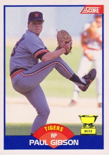 Baseball Card Bust Paul Gibson 1989 Score