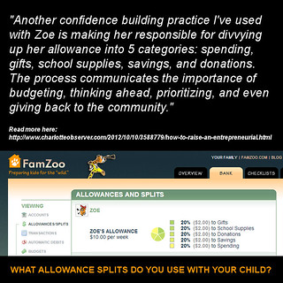 What Allowance Splits Do You Use With Your Child?
