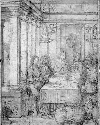 [ F ] Juan de Flandes - The Marriage Feast at Cana (1496) - Earlier Sketch