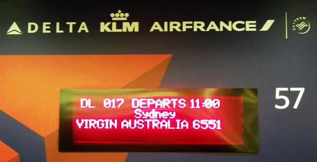 Delta flight Los Angeles to Sydney