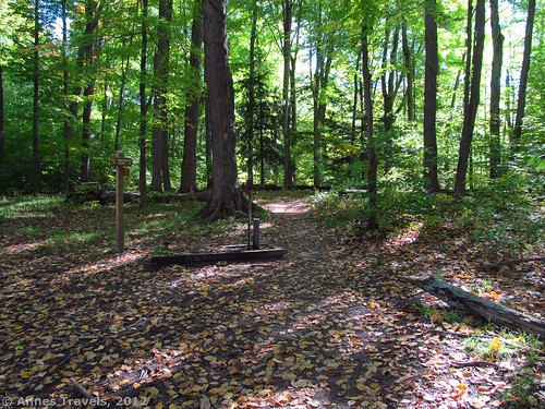 The trail behind the pump (Mohawk cabin is to the left), Webster Park, New York
