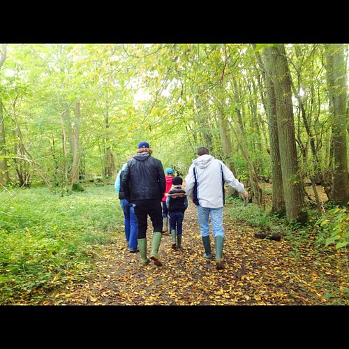 Went on a hike through the woods w/ @duncanbanks & fam today. In our #wellies. Beautiful #countryside. #Suffolk