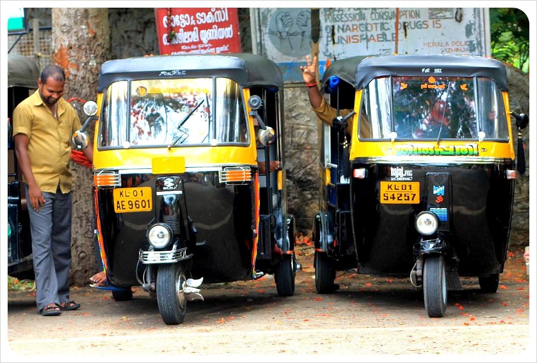 rickshaws in kovalam