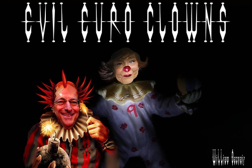 EVIL EURO CLOWN MUTTI WITH SCARY MARIO by Colonel Flick