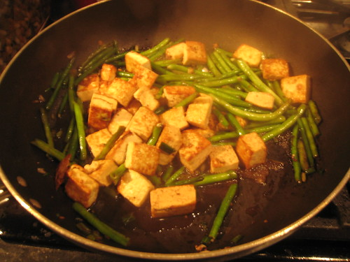 crispy tofu with long beans