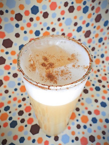 Spiced Pear Flip Cocktail by Fabric Paper Glue