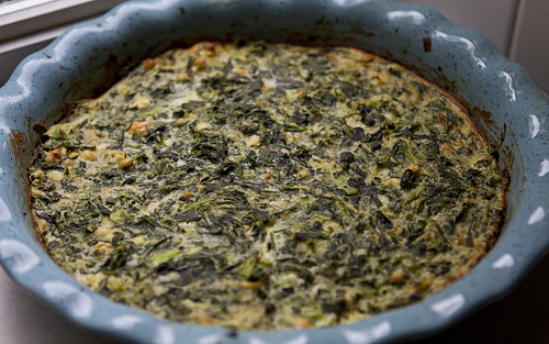 greek spinach fritata