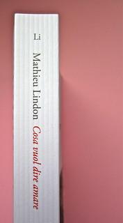 Mathieu Lindon, Cosa vuol dire amare; Barbès 2012. [resp. grafica non indicata]; fotog.: A. Robbe-Grillet, C. Simon, C. Mauriac, J. Lindon, R. Pinget, S. Beckett, N. Sarraute, C. Ollier, 1959 © M. Dondero. Dorso (part.), 2