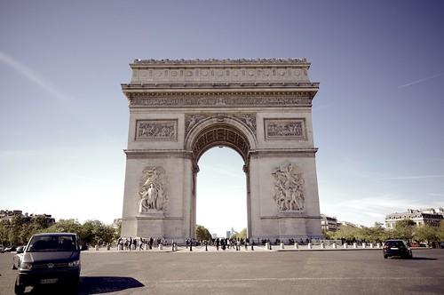 L´Arc de Triomphe in Paris
