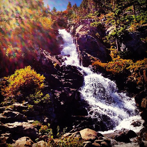 Waterfall near Mohawk Lake in #breckenridge today- stunning! ( and very high up!)