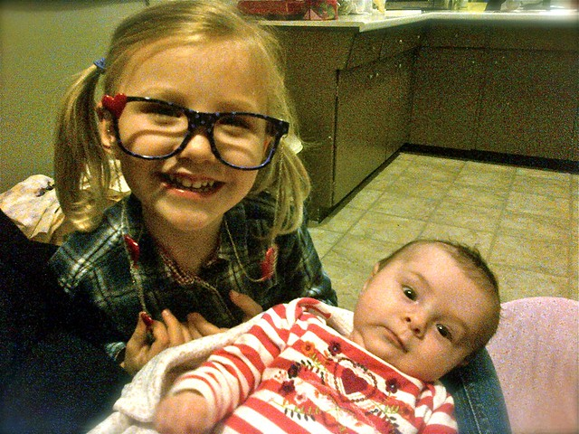 Zoey w Glasses and Maggie