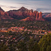 Sedona Sunset from Sky Ranch Lodge by Jim Frazee