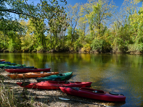 Kayaking on Brandywine Creek by Valentina Sokolskaya