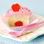 Gluten free Almond & cherry cupcake