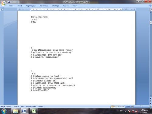 Figure 27: WordPerfect file rendered in Microsoft Office 2007