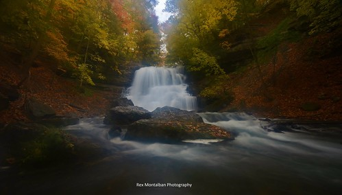 autumn waterfalls decew nothdr rexmontalbanphotography thesecondorlowerwaterfall