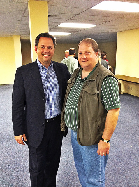 With State Representative Jonathan Jordan in Boone.