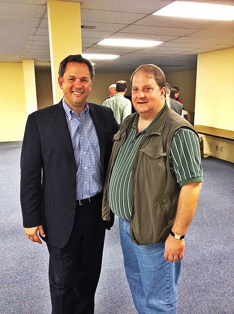 With State Representative Jonathan Jordan in Boone.