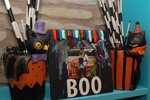 Ilovetocreate Blog Melted Crayon Halloween Picture Frame
