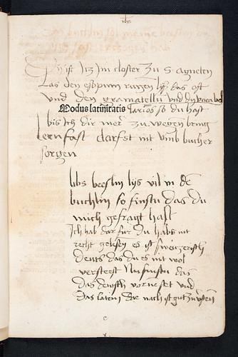 Annotated title-page from Ebrardi, Udalricus. Modus latinitatis