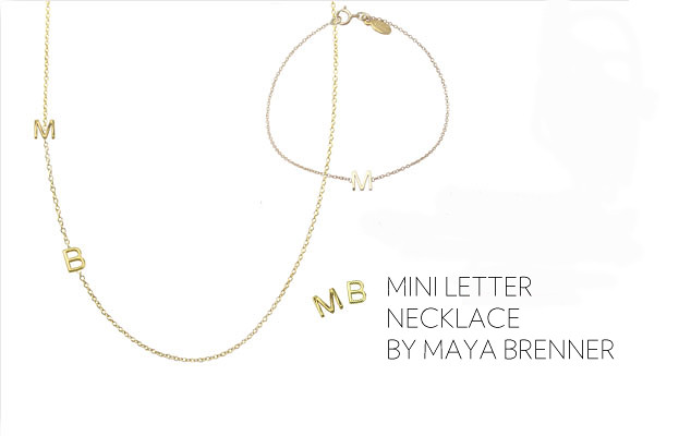 maya brenner 2 asymmetrical mini letter necklace