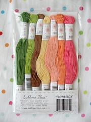 Flowerbox Sublime floss palette