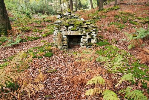 石造り暖炉 遠景