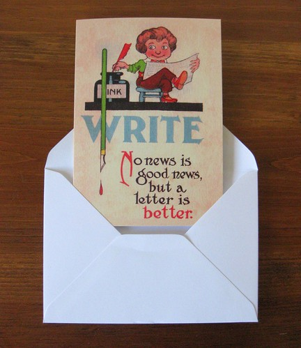 Notecards: WRITE - A letter is better