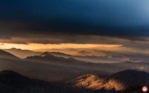 sunset sky mountains skyline clouds stars landscape scenic northcarolina astro western appalachian blueridge superscenes