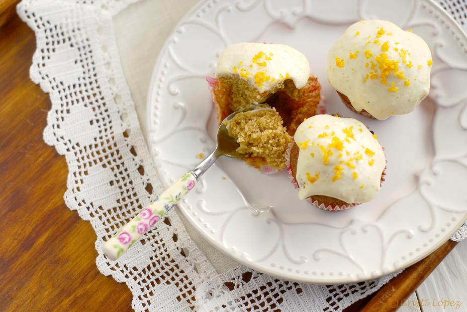 Muffins de calabaza con glaseado