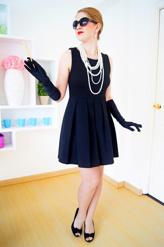 the joy of fashion diy halloween costume audrey hepburn. Black Bedroom Furniture Sets. Home Design Ideas