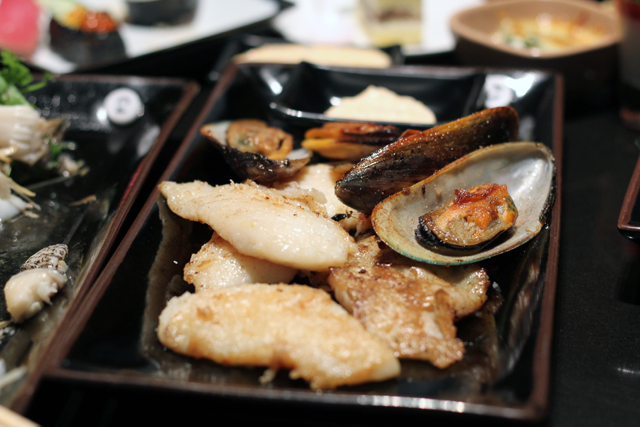 More seafood off the grill at Oishi Grand