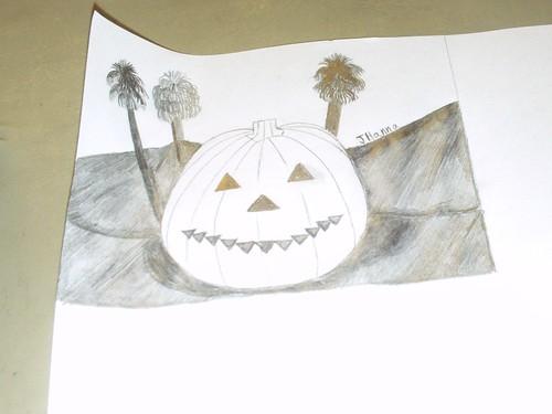 Drawing The Smiling Jack o Lantern: Part 2